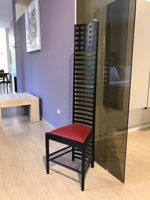 Sedia di design mackintosh steel line con schienale in for Sedia di design
