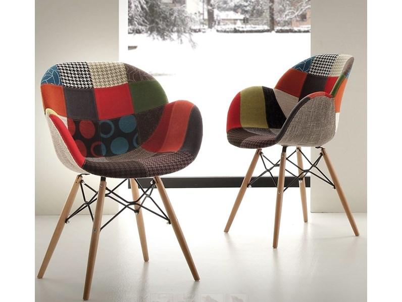 Sedia di la seggiola sedia shell patch prezzi outlet for Outlet sedie roma