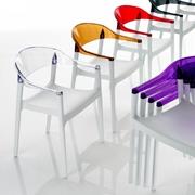 Sedia Eurosedia modello Milly. Sedia con struttura in polipropilene e sedile in policarbonato disponibili in vari colori.