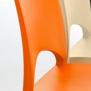 Sedia Eurosedia modello Viviana. Sedia con struttura e sedile in polipropilene disponibile in varie colorazioni.