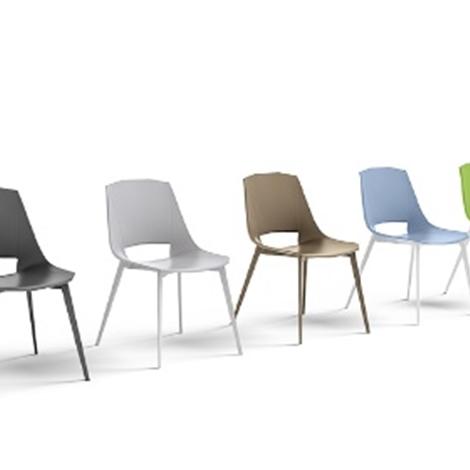 Sedia moderna eva 1 in plastica di design sedie a prezzi for Sedia moderna design
