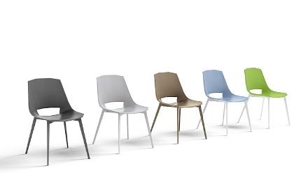 Sedia moderna eva 1 in plastica di design sedie a prezzi for Sedia di design