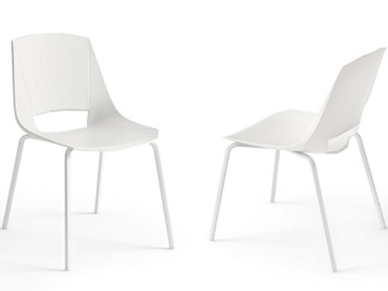 Sedia impilabile moderna eva 4 in plastica da ufficio o cucina