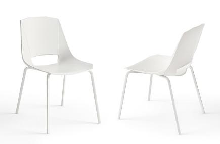 Sedia impilabile moderna eva 4 in plastica da ufficio o for Sedia ufficio moderna