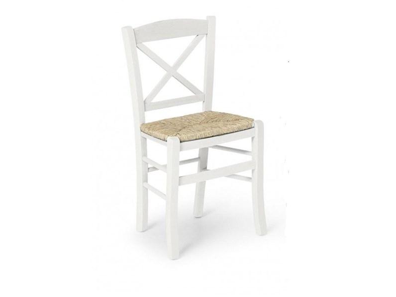 Sedia impagliata in legno a prezzo Outlet