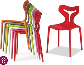 Sedia impilabile Set 2 sedie area51 di calligaris Artigianale a prezzo ribassato