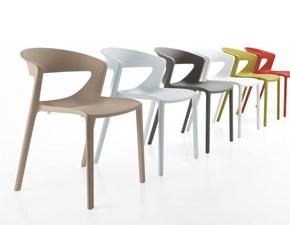 Sedia impilabile Set 4 sedie kicca Kastel in Offerta Outlet