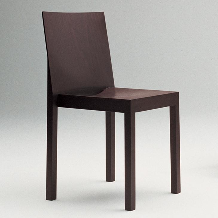 sedia in legno impilabile design by nuova a
