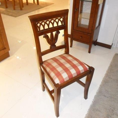 Sedia in legno noce imbottita sedie a prezzi scontati for Sedia sdraio imbottita prezzi