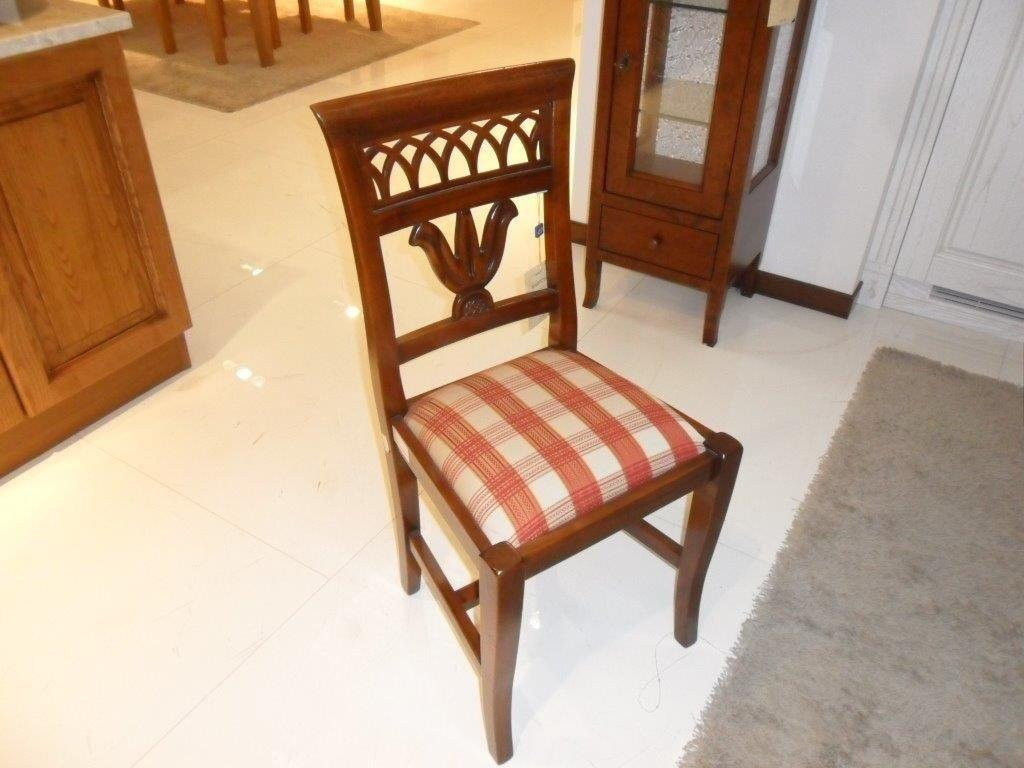 Sedia in legno noce imbottita - Sedie a prezzi scontati