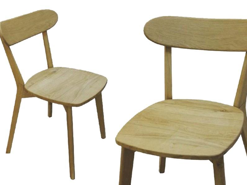 Sedie In Legno Per Cucina Prezzi.Sedia In Legno Massello Di Rovere