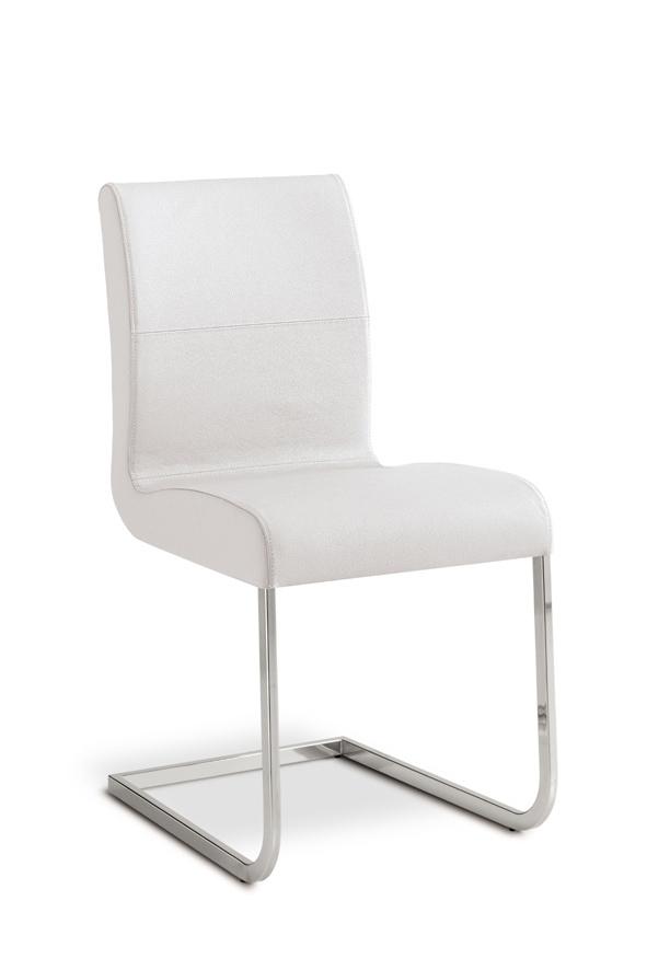 Sedia in metallo e pelle vera bianca o nera imperia - Sostituire seduta sedia ...