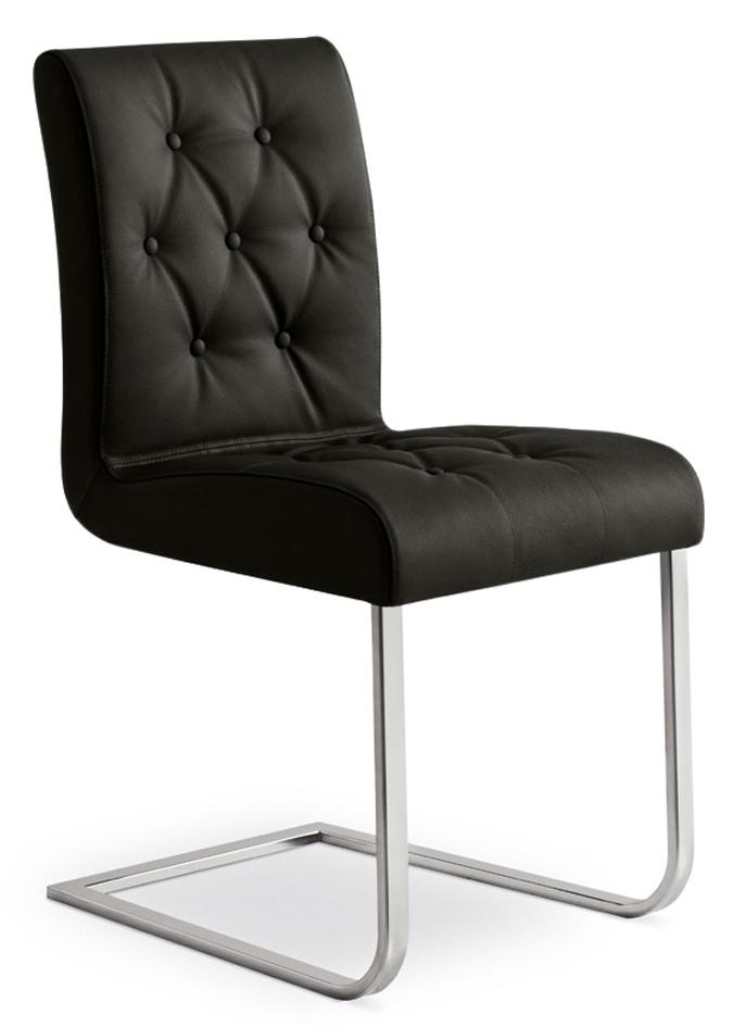 Sedia in metallo effetto pelle con gambe a slitta padova sedie a prezzi scontati - Sedie ufficio padova ...