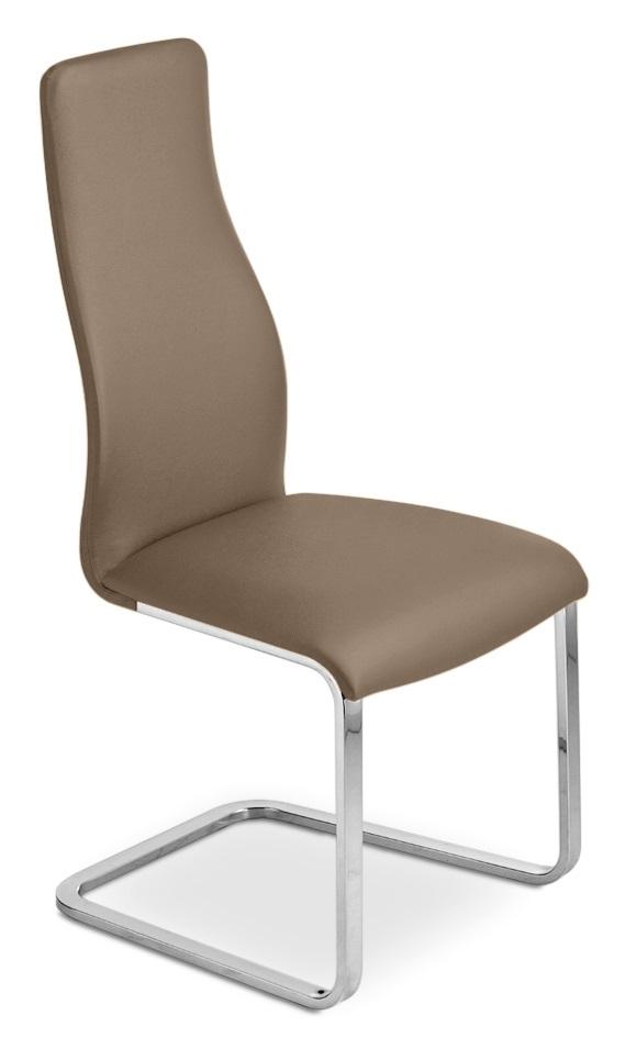 Sedia in metallo e tessuto ecopelle con gambe a slitta - Sostituire seduta sedia ...