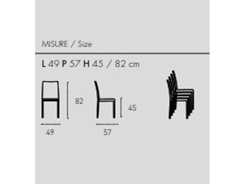 Sedia in policarbonato Futura di Target point
