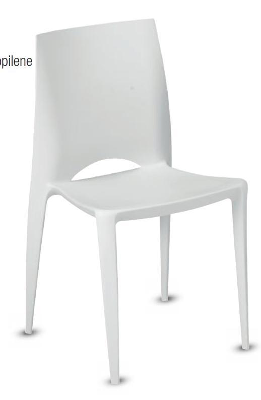 Sedia in polipropilene bianca sedie a prezzi scontati for Sedia design bianca
