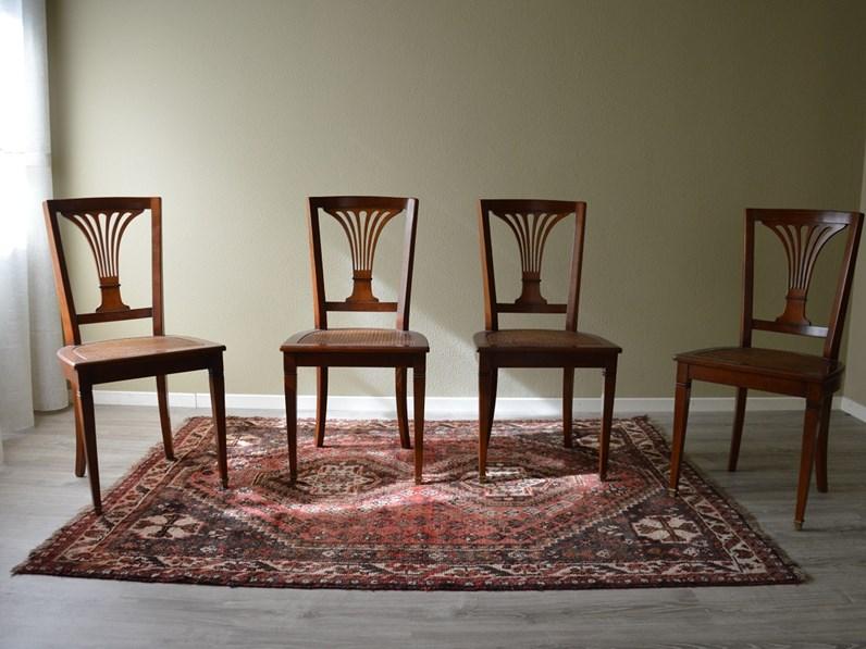 Sedie Artigianali Legno.Sedia In Stile In Legno Massello Di Produzione Artigianale Scontata Del 60