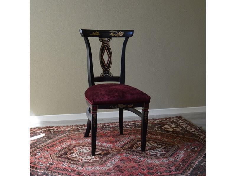 Sedia in stile orientale di produzione artigianale for Outlet della sedia milano