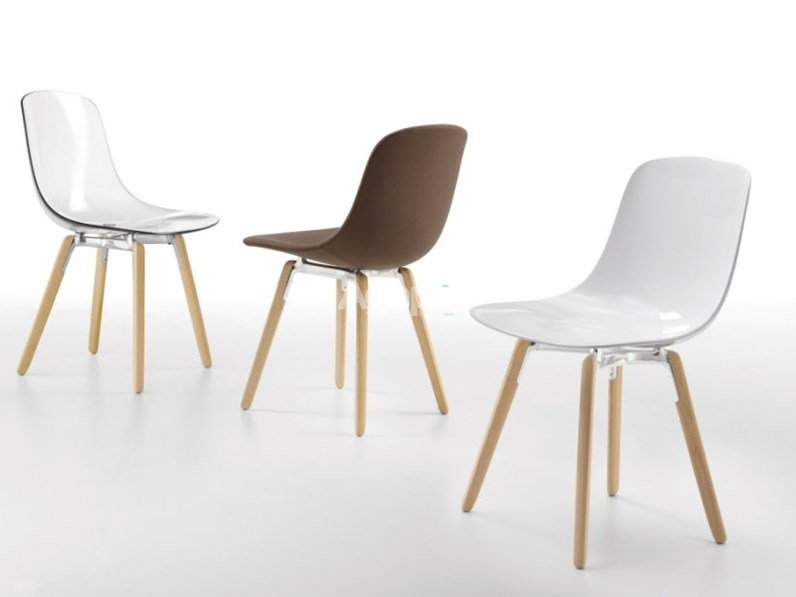 Sedia infiniti modello pure loop wooden legs for Sedie design outlet