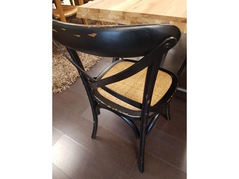 sedia intreccio legno e rattan a prezzo outlet. Black Bedroom Furniture Sets. Home Design Ideas