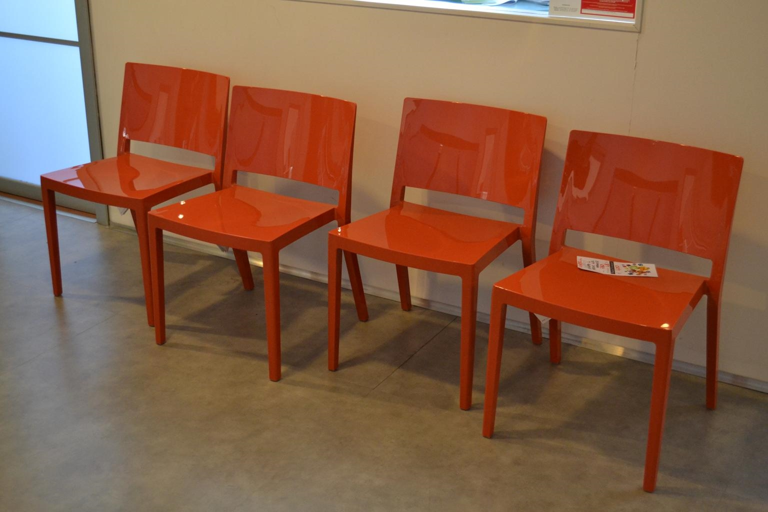 4 sedie kartell lizz arancio sedie a prezzi scontati for Sedie kartell prezzi