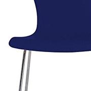 Sedia impilabile blu Kartell nihau in polipropilene e acciaio cromato