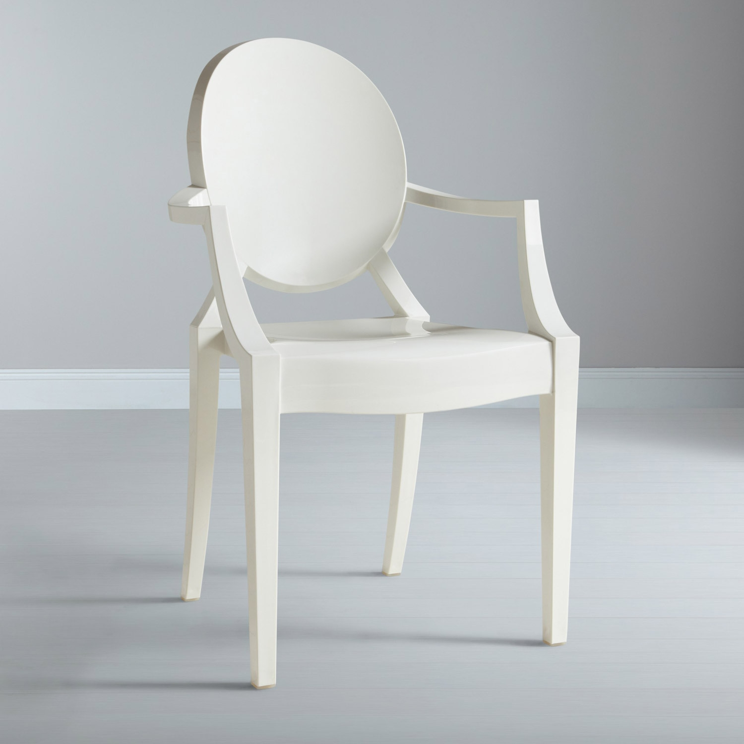 sedia kartell ghost in policarbonato design philippe