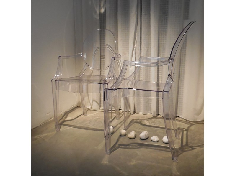 Sedia kartell set sedie louis ghost kartell in offerta outlet