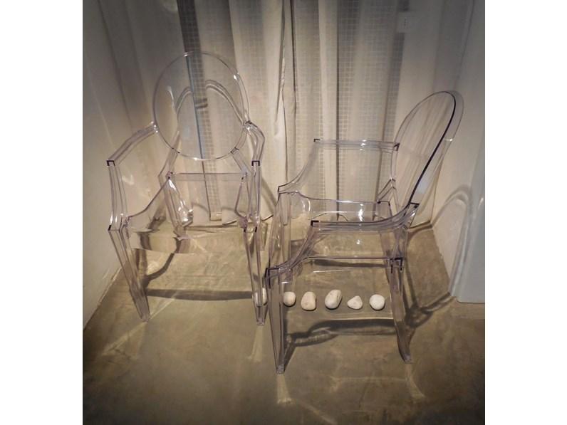 Sedia kartell set 4 sedie louis ghost kartell in offerta for Sedie on line outlet