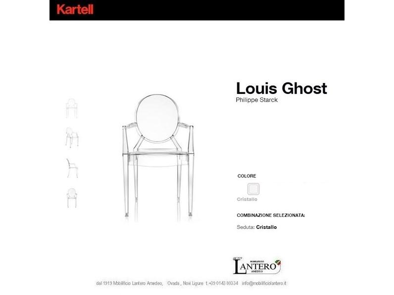 Sedia Kartell set 2 sedie louis ghost Kartell in OFFERTA OUTLET