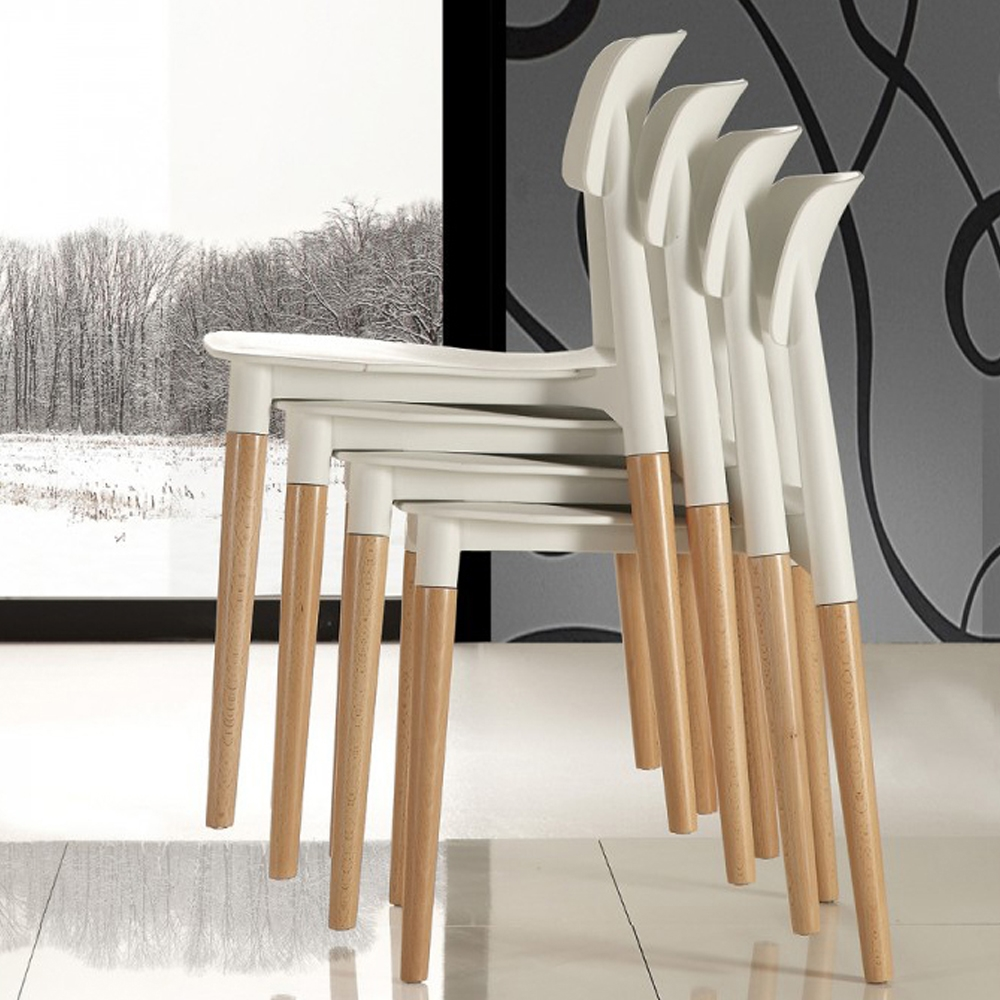 Sedia la seggiola artika plastica design impilabile for La sedia nel design