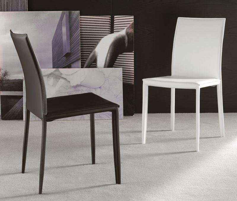 Sedia la seggiola cathy cuoio moderno schienale alto for Sedie cuoio prezzi