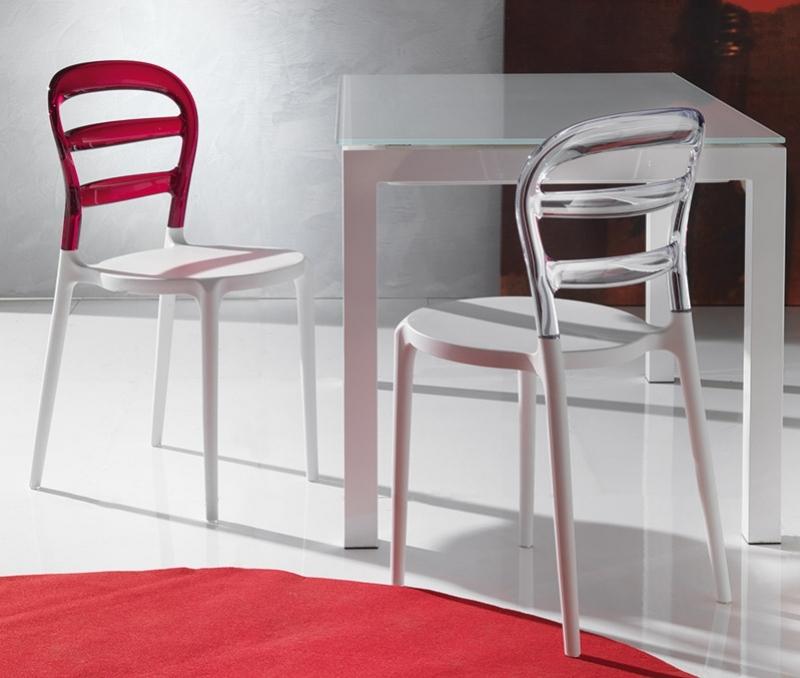 Sedia la seggiola deja v plastica design schienale medio for La sedia nel design