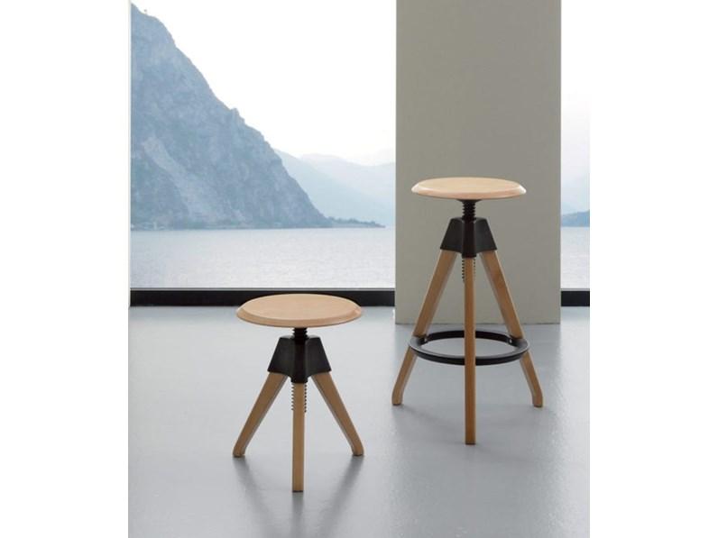 Sedia Design Regolabile.Sedia La Seggiola Giotto Legno Design Regolabile In Altezza