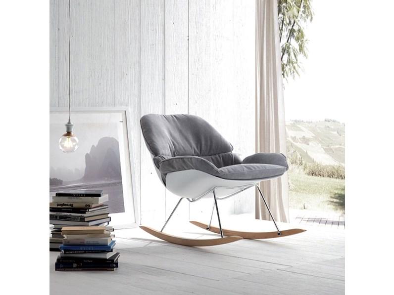 Sedie A Dondolo Design.Sedia La Seggiola Hansel Tessuto Design A Dondolo