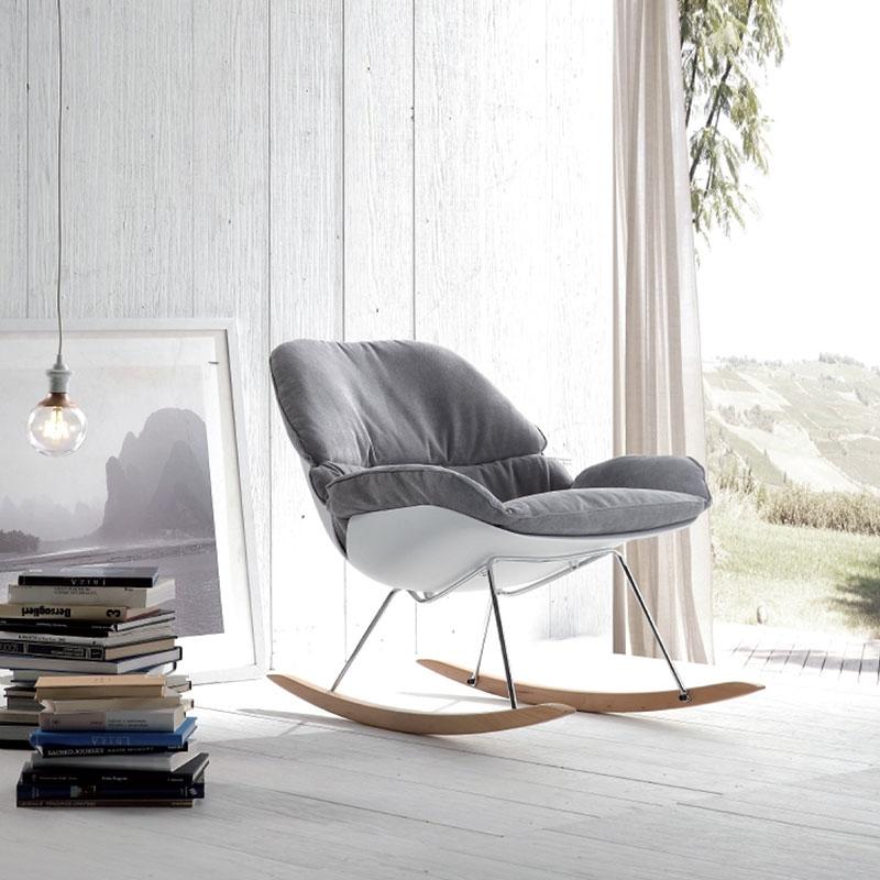 Sedia la seggiola hansel tessuto design a dondolo sedie - Sedia dondolo design ...