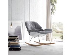 Sedia A dondolo di design La Seggiola mod. Hansel