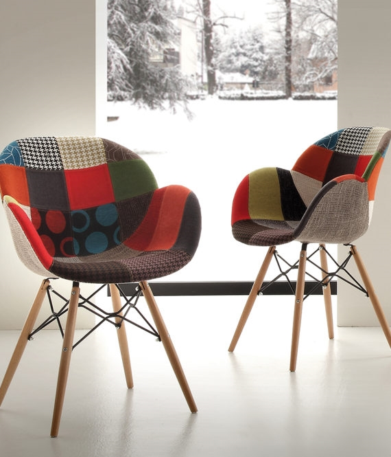 Sedia la seggiola lotus patch tessuto design con braccioli for Sedie tessuto design