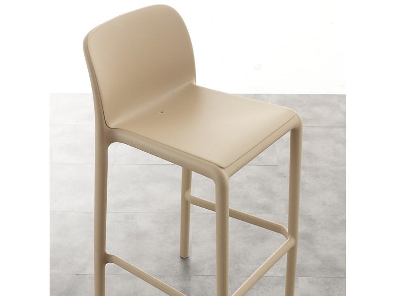 Sedia la seggiola river stool plastica moderno impilabile