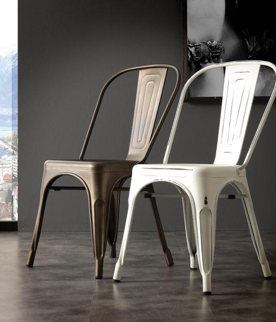 Sedia la seggiola route 66 laccato design impilabile for La sedia nel design