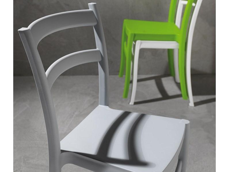 Sedie Intrecciate In Plastica.Sedia La Seggiola Venezia Plastica Classico Impilabile
