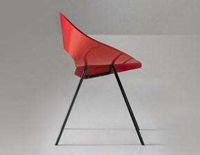 Sedia Lamiera d'acciaio vari colori win Md work in OFFERTA OUTLET