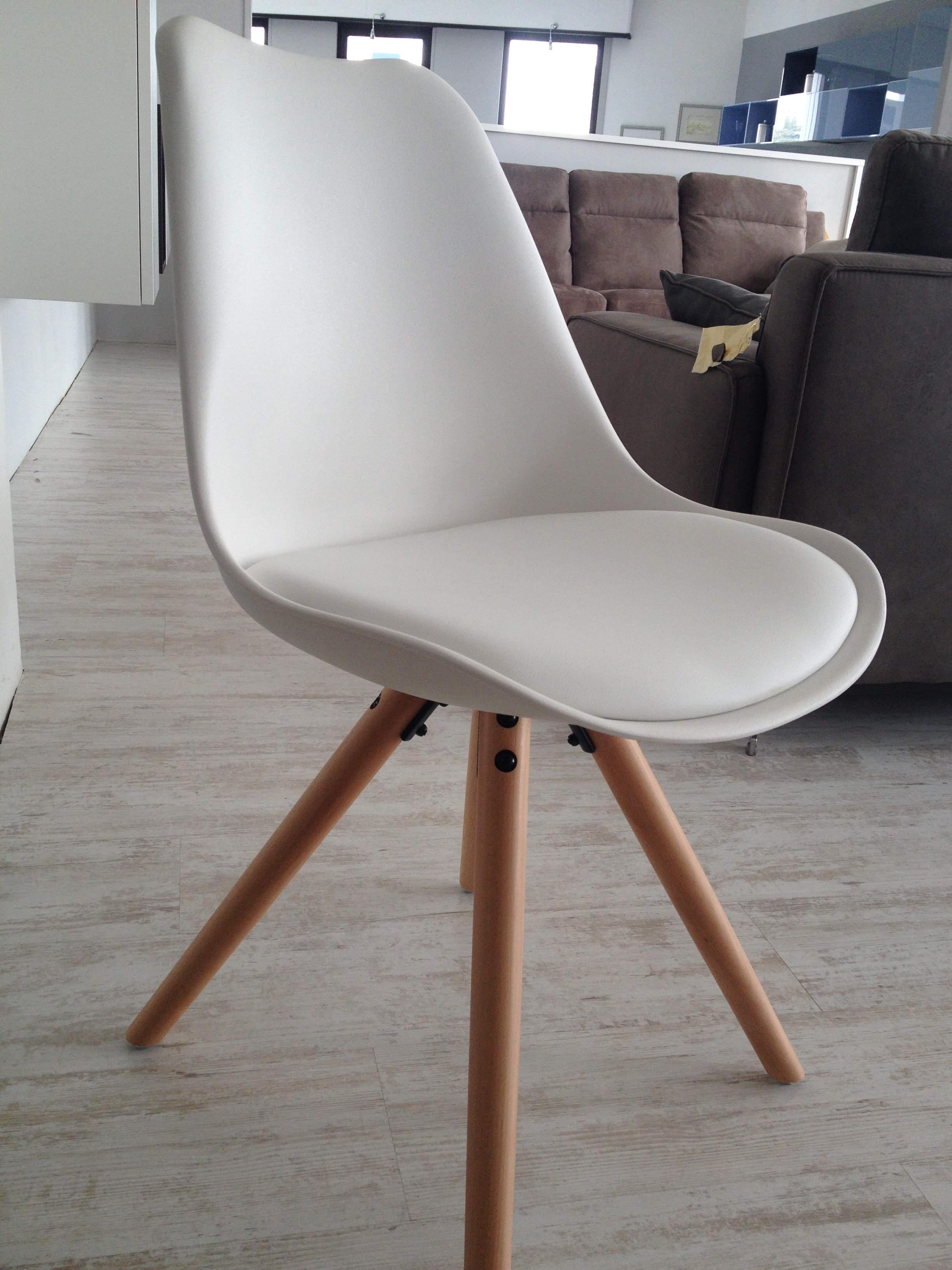 Sedia lars bianca con seduta ecopelle 31 sedie a for Sedie moderne prezzi