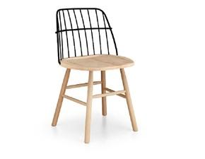 sk sedia acciaio e legno made in italy md work srl