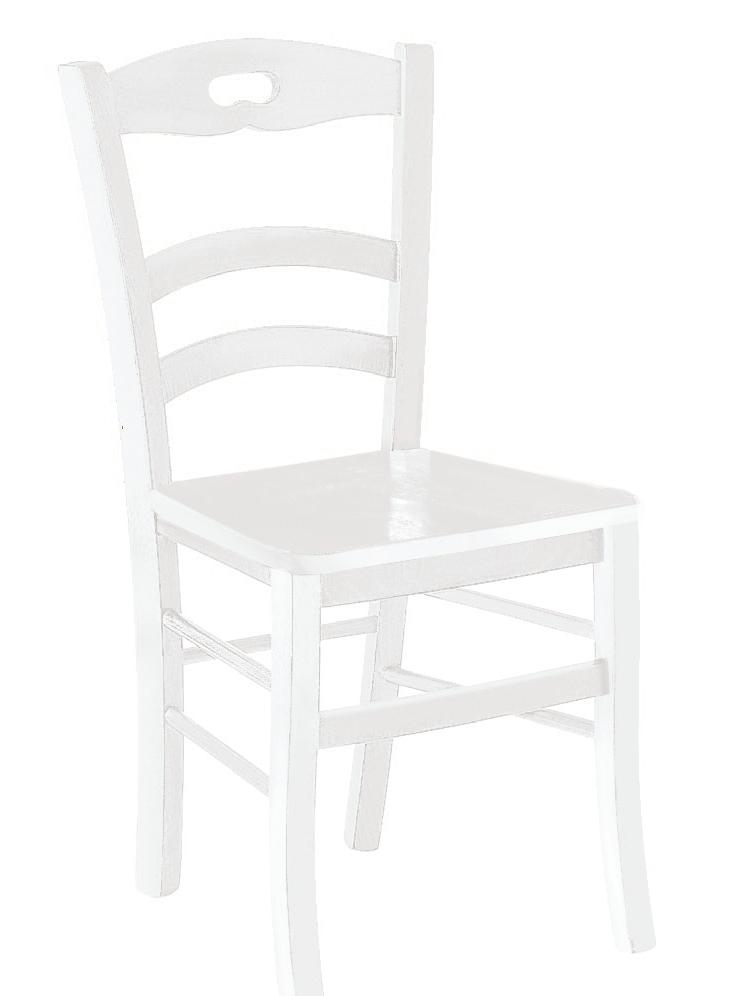 Sedia legno massello bianca - Sedie a prezzi scontati