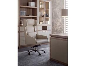 Sedia Luxury office in  vera pelle spessorata vari colori Md work in OFFERTA OUTLET
