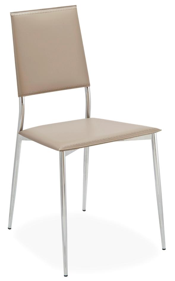 Sedia in metallo e cuoio rigenerato modello rosa sedie a for Sedie cuoio prezzi