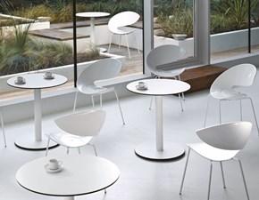 Sedia MIDJ modello Twist S-H. Sedia con sedile in HiRek bianco e struttura in acciaio bianco, alluminio.