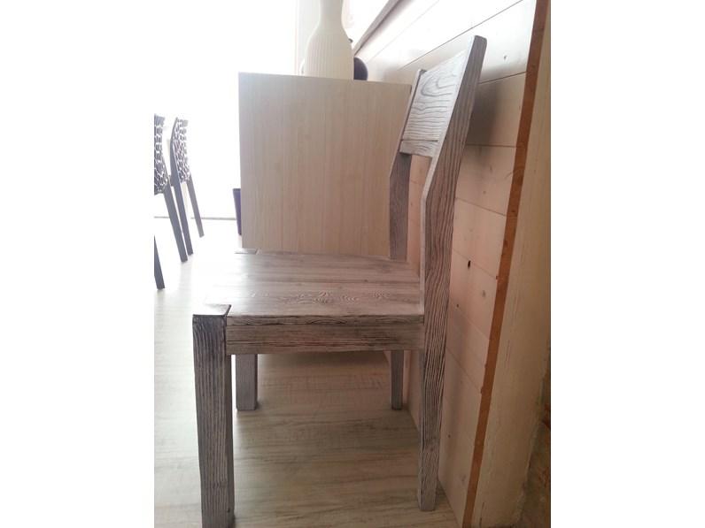 Sedia moderna in legno massello in promozione for Zanotto arredamenti