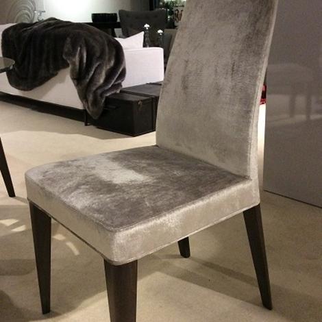 Sedia sedia modello brenda potocco realizzata in velluto for Sedie design velluto